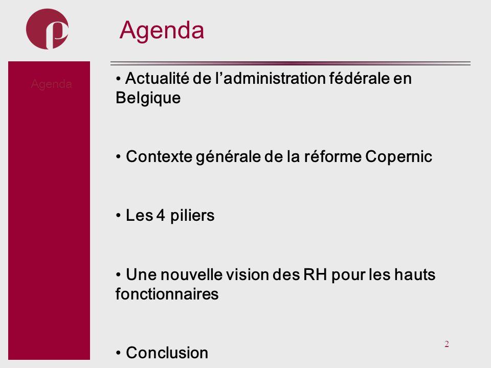 Agenda Actualité de l'administration fédérale en Belgique Subtitel