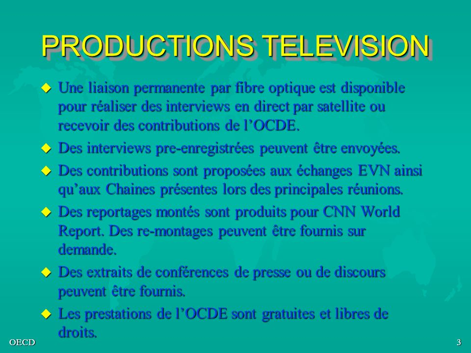 PRODUCTIONS TELEVISION