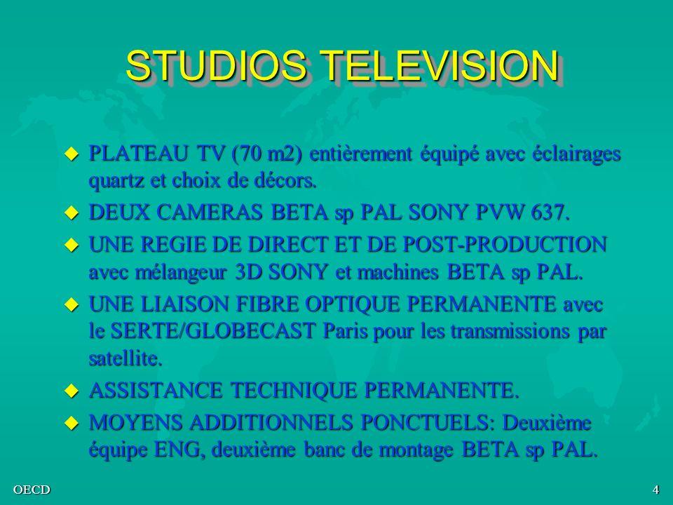 STUDIOS TELEVISION PLATEAU TV (70 m2) entièrement équipé avec éclairages quartz et choix de décors.