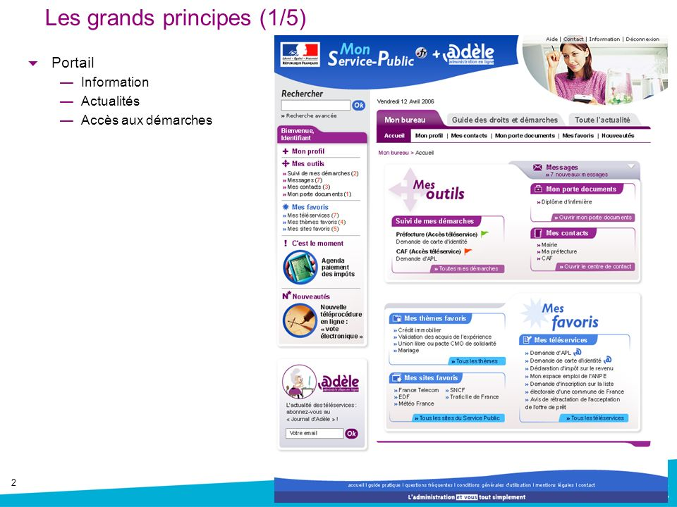 Les grands principes (1/5)