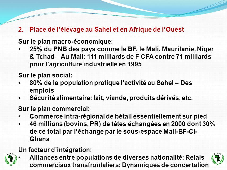 Place de l'élevage au Sahel et en Afrique de l'Ouest