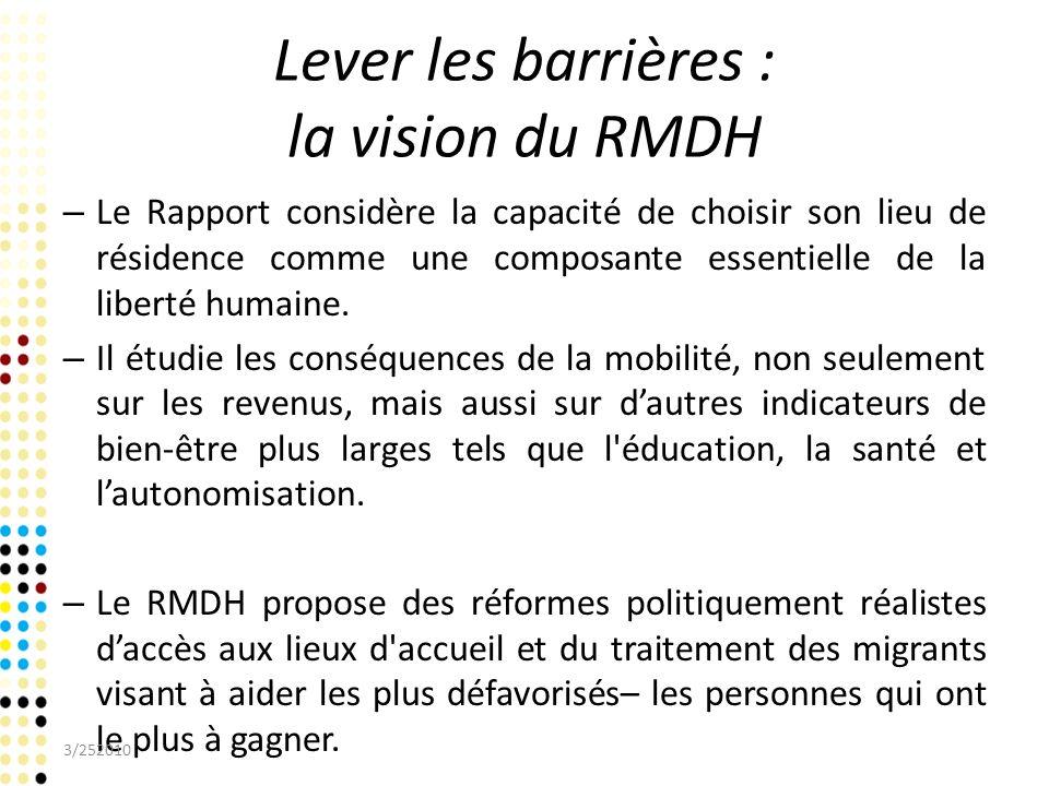 Lever les barrières : la vision du RMDH