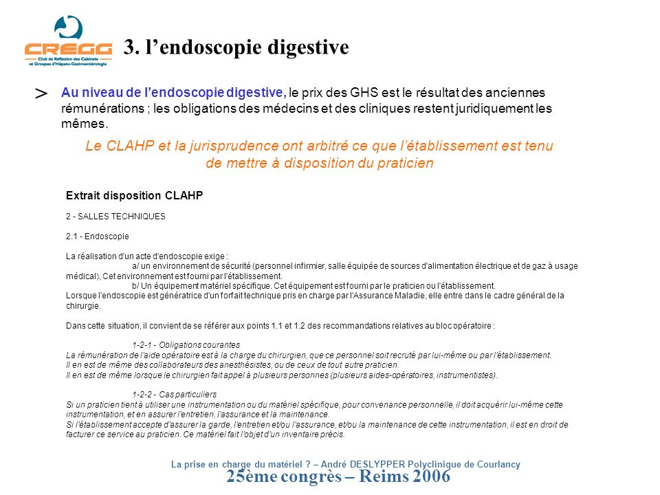 3. l'endoscopie digestive