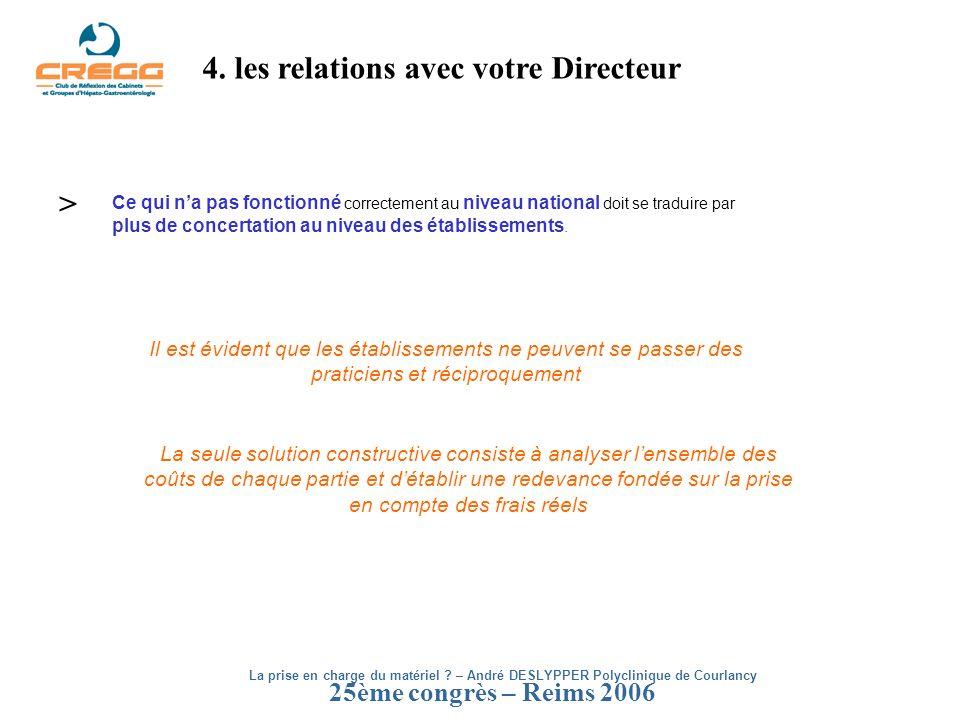 4. les relations avec votre Directeur