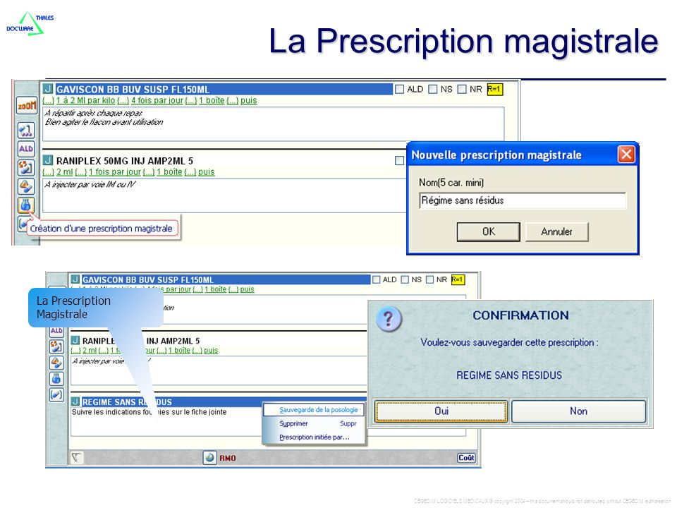 La Prescription magistrale