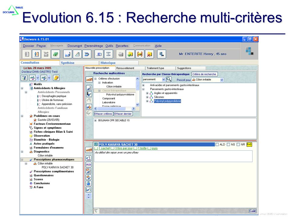 Evolution 6.15 : Recherche multi-critères
