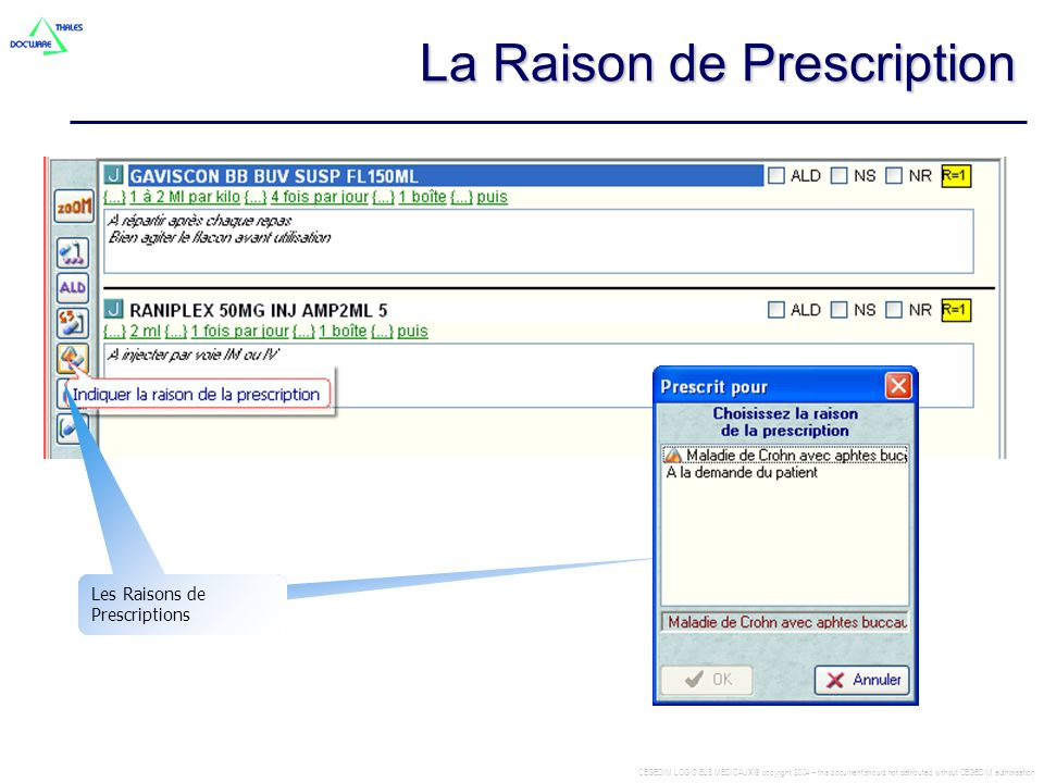 La Raison de Prescription