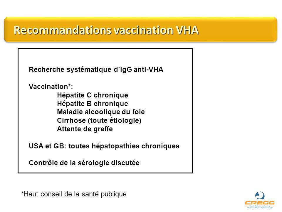Recommandations vaccination VHA