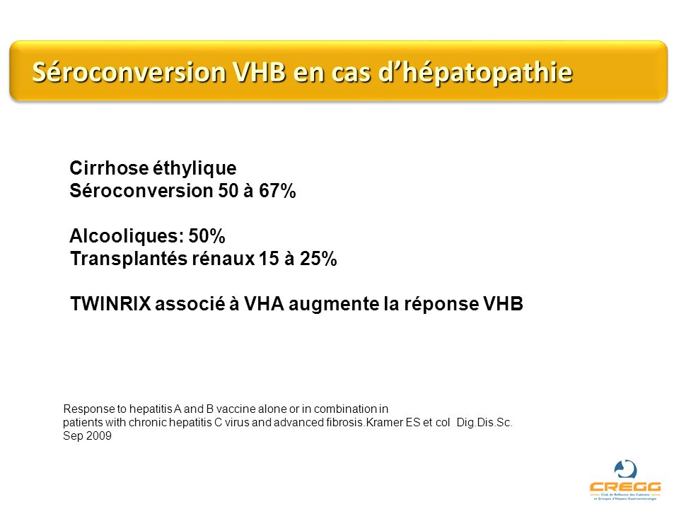 Séroconversion VHB en cas d'hépatopathie