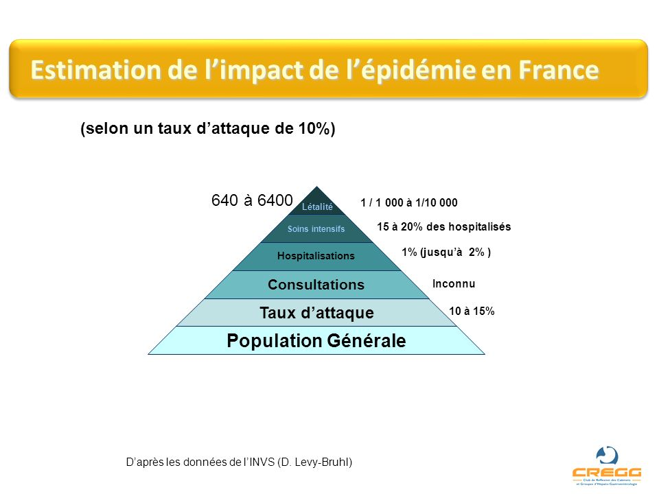 Estimation de l'impact de l'épidémie en France