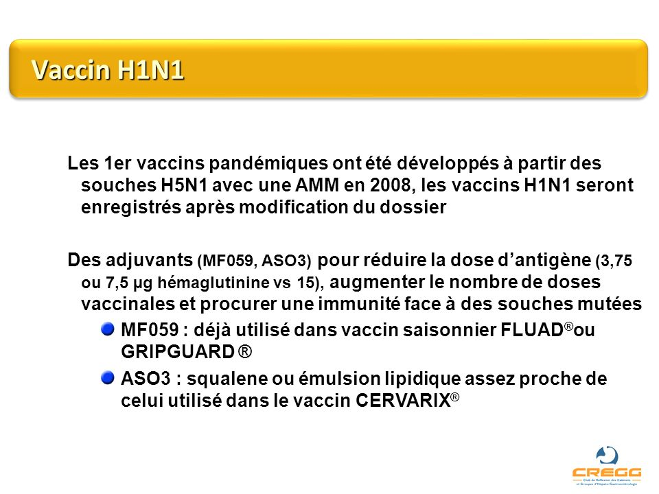 Vaccin H1N1