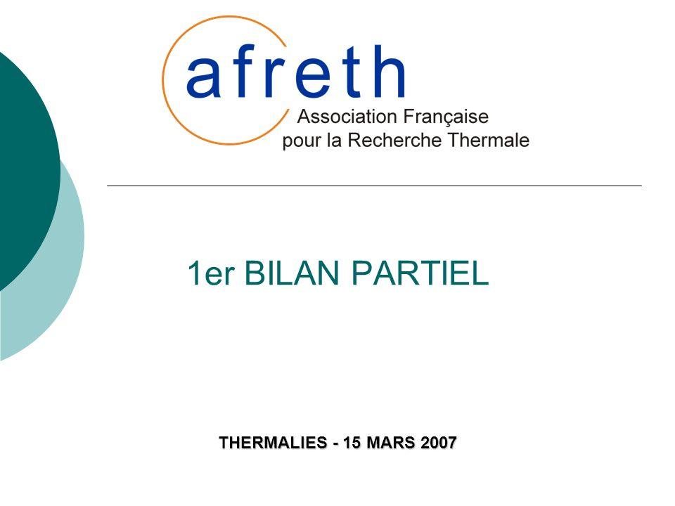 1er BILAN PARTIEL THERMALIES - 15 MARS 2007