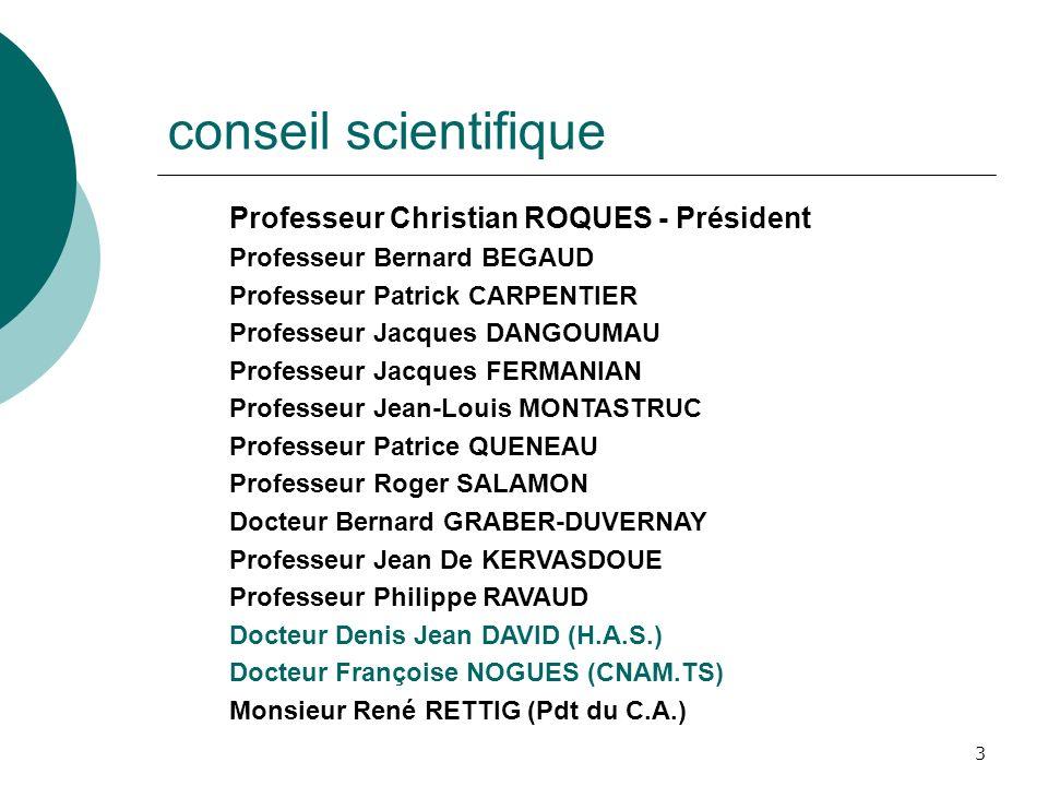 conseil scientifique Professeur Christian ROQUES - Président