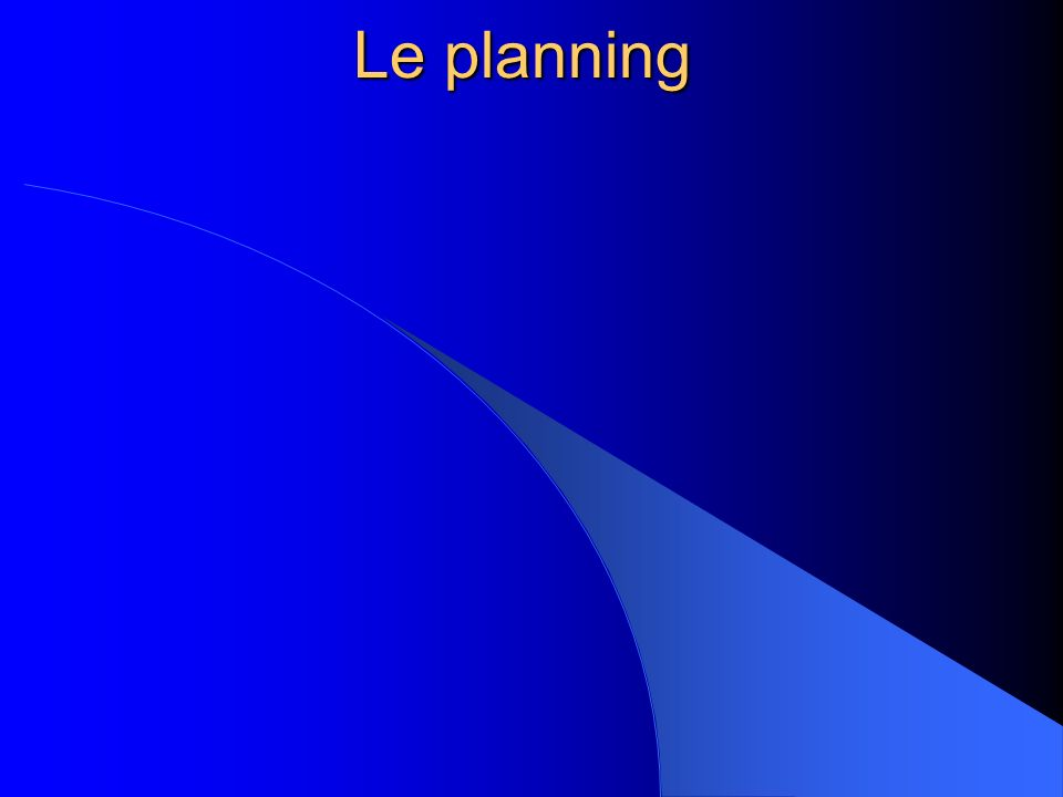 Le planning 6