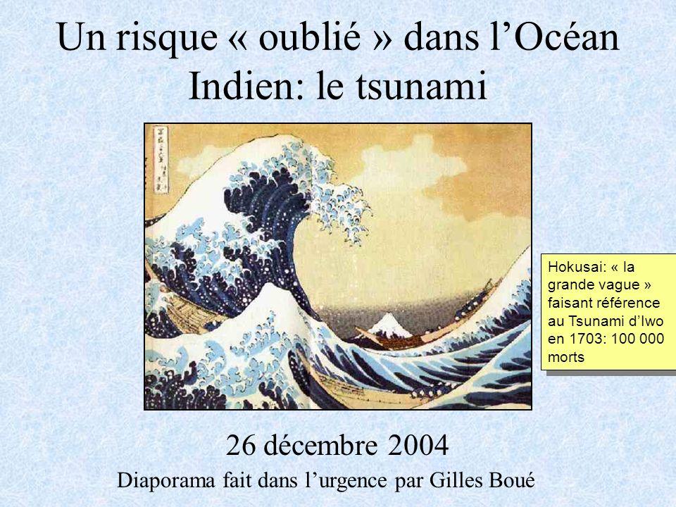 Un risque « oublié » dans l'Océan Indien: le tsunami