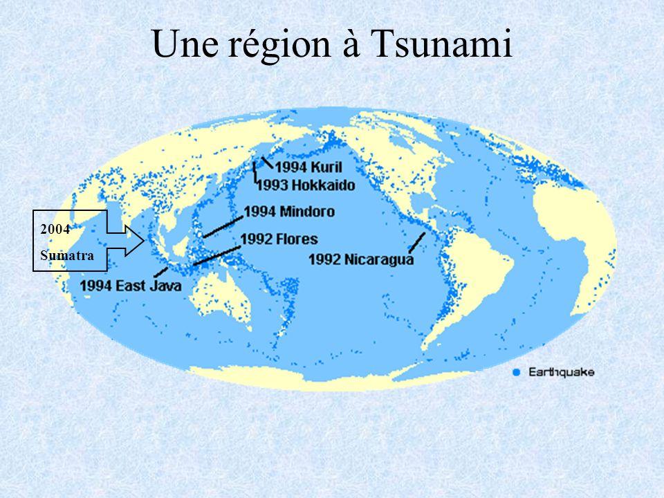 Une région à Tsunami 2004 Sumatra