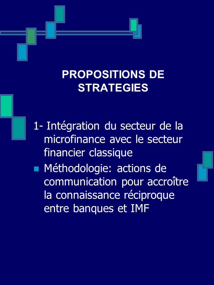 PROPOSITIONS DE STRATEGIES