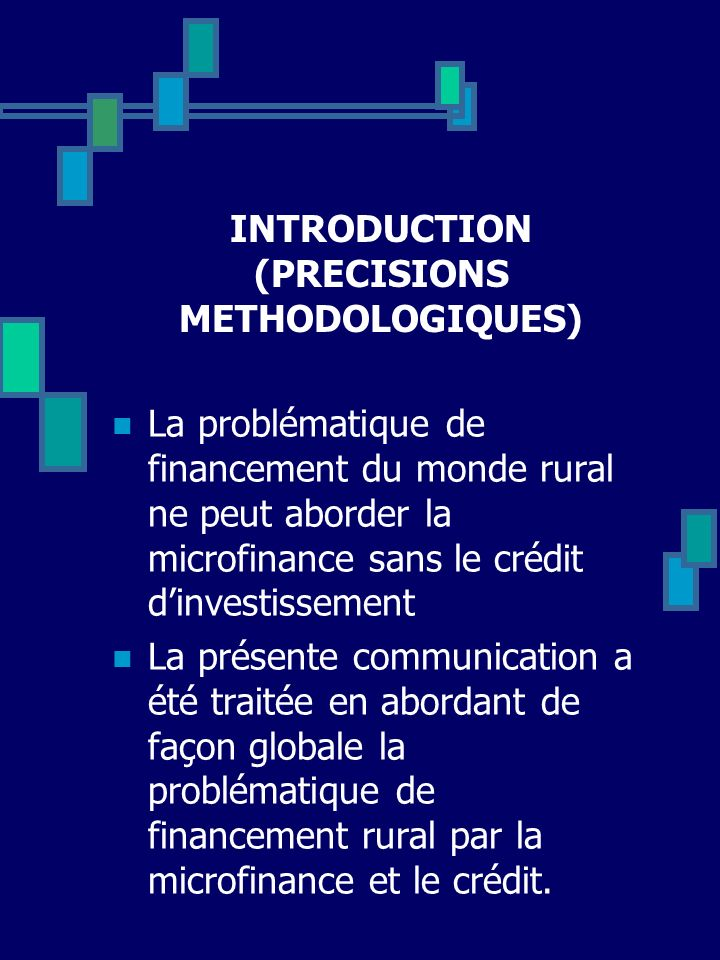 INTRODUCTION (PRECISIONS METHODOLOGIQUES)