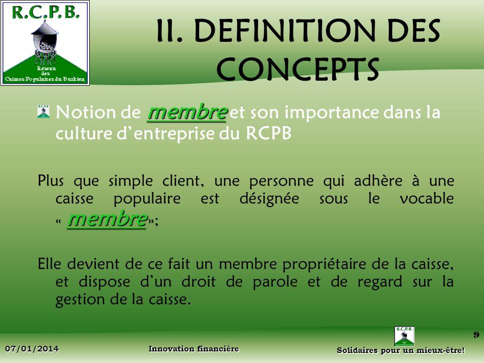 II. DEFINITION DES CONCEPTS