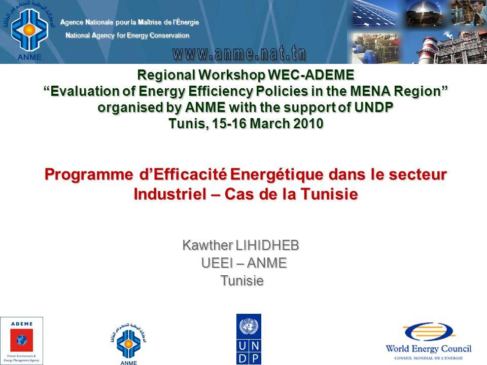 Kawther LIHIDHEB UEEI – ANME Tunisie