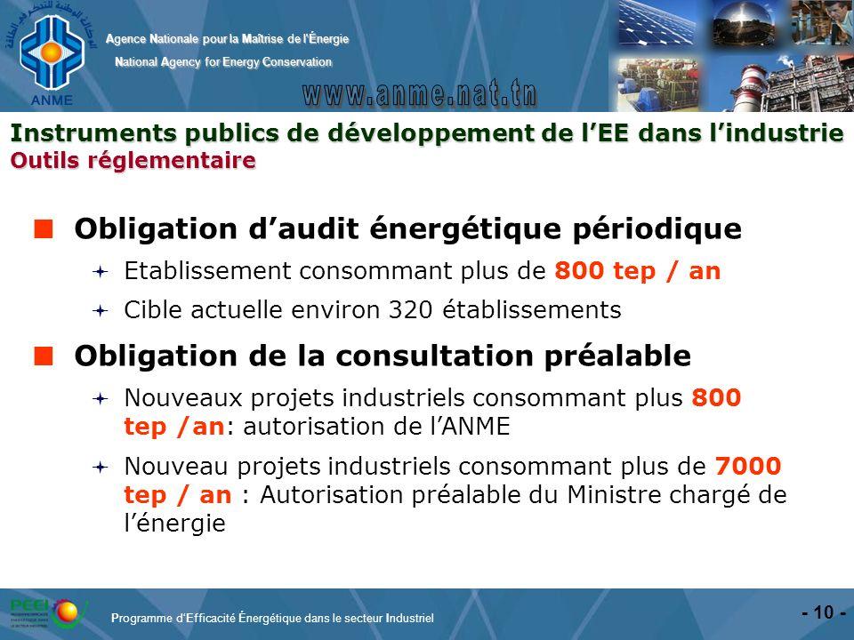 Obligation d'audit énergétique périodique