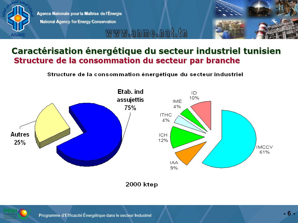 Caractérisation énergétique du secteur industriel tunisien