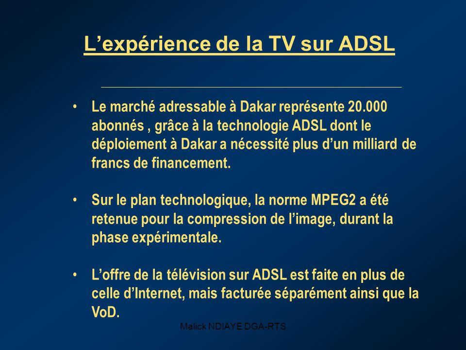 L'expérience de la TV sur ADSL