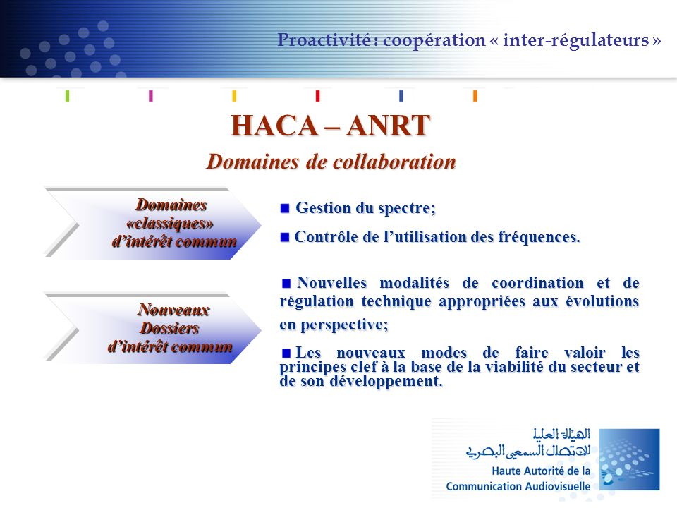 Domaines de collaboration