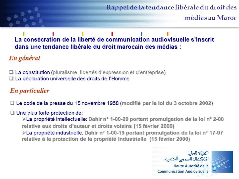 Rappel de la tendance libérale du droit des médias au Maroc