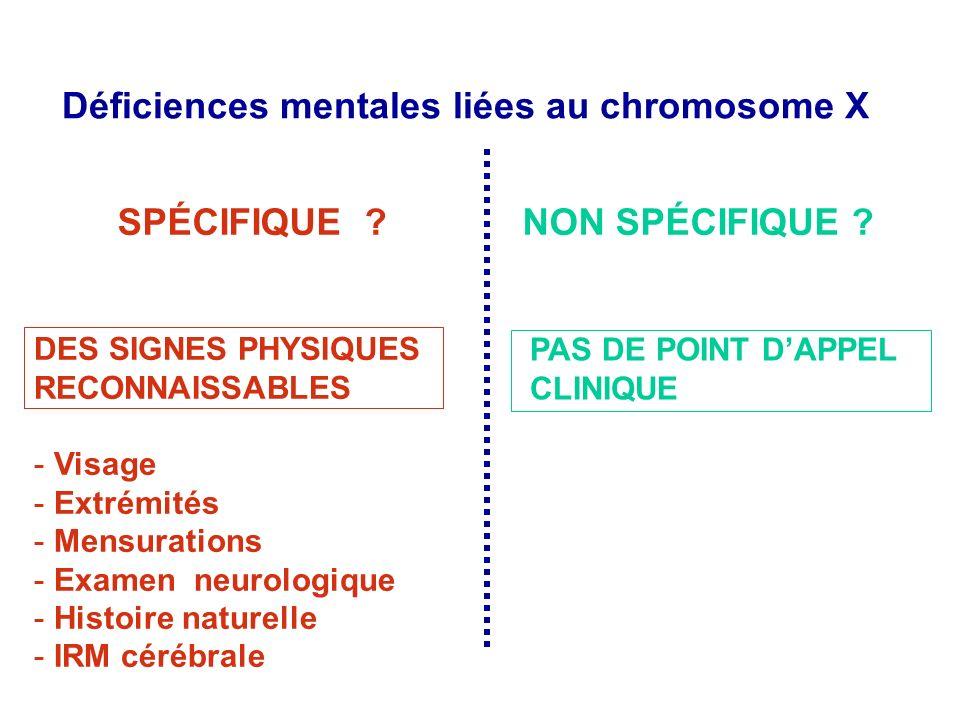 Déficiences mentales liées au chromosome X