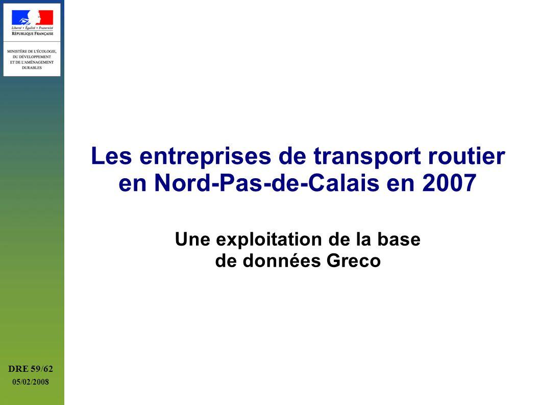 Les entreprises de transport routier en Nord-Pas-de-Calais en 2007