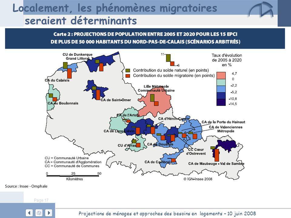 Localement, les phénomènes migratoires seraient déterminants