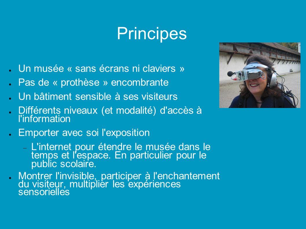 Principes Un musée « sans écrans ni claviers »