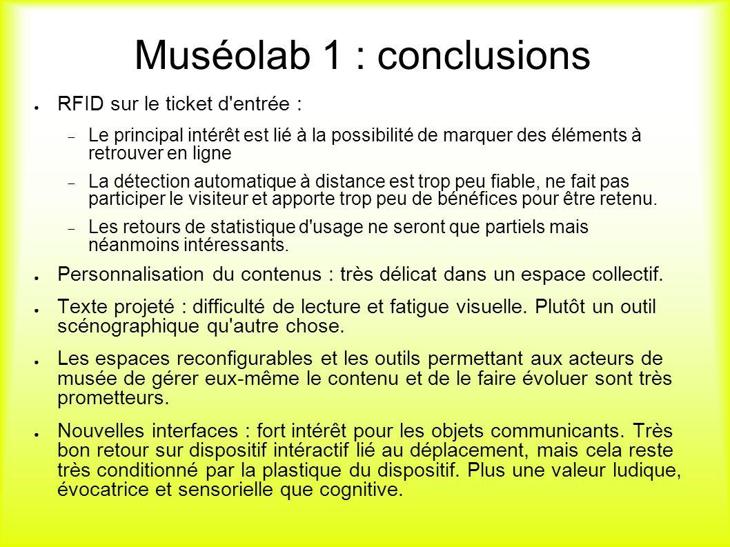 Muséolab 1 : conclusions