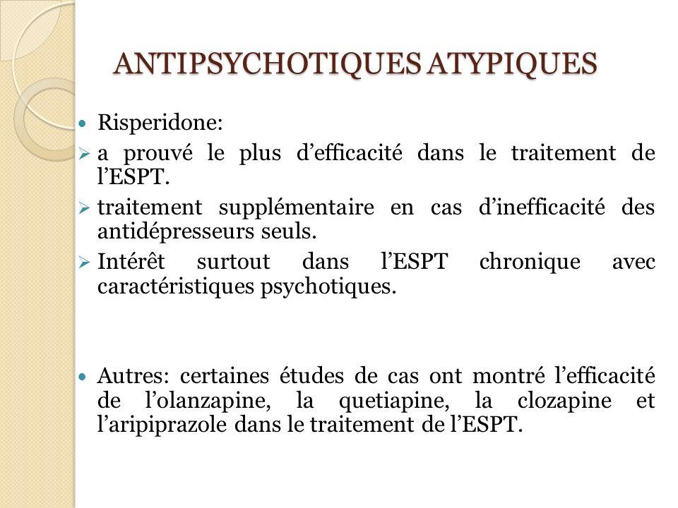 ANTIPSYCHOTIQUES ATYPIQUES