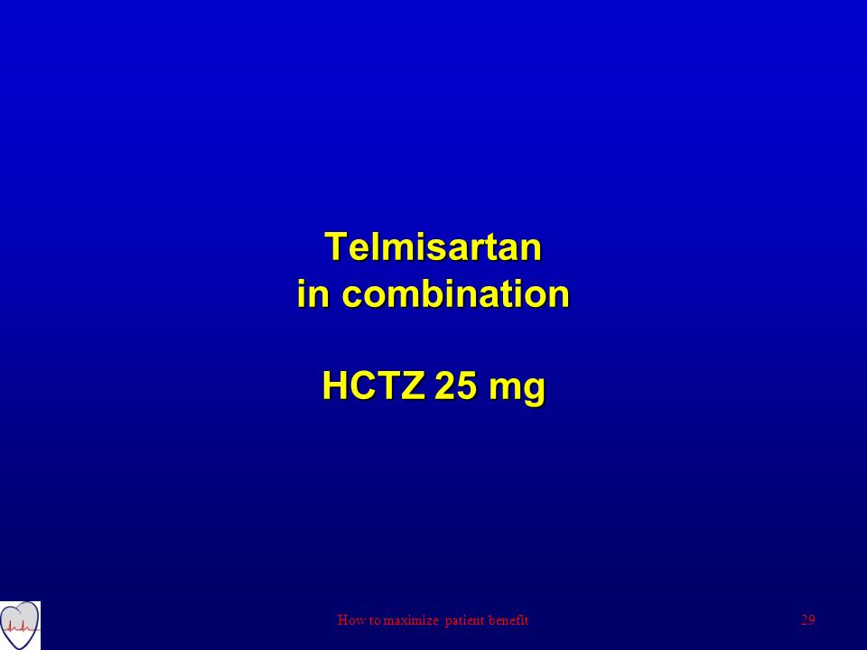 Telmisartan in combination HCTZ 25 mg