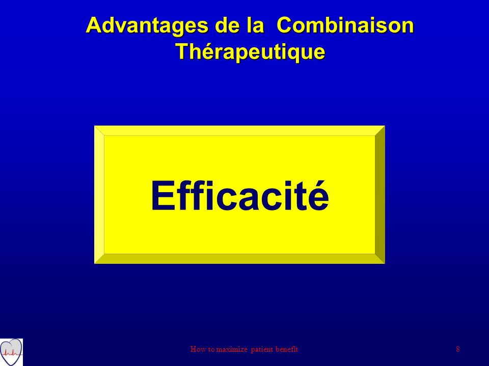 Advantages de la Combinaison Thérapeutique