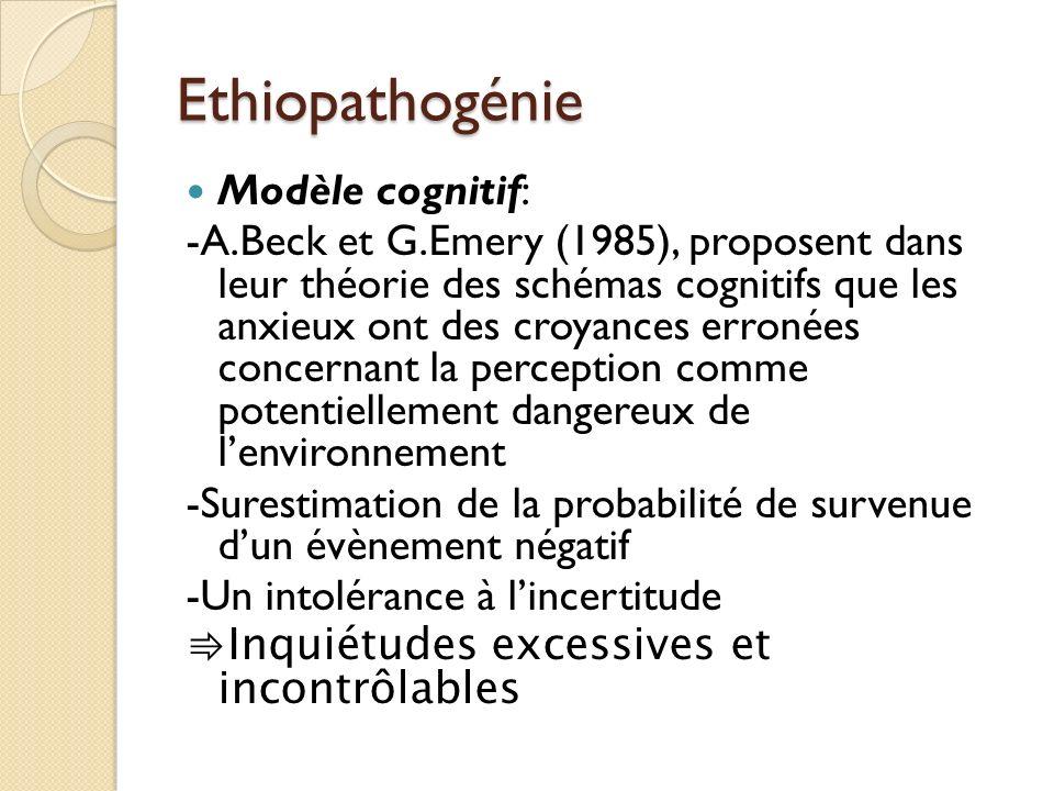 Ethiopathogénie Modèle cognitif: