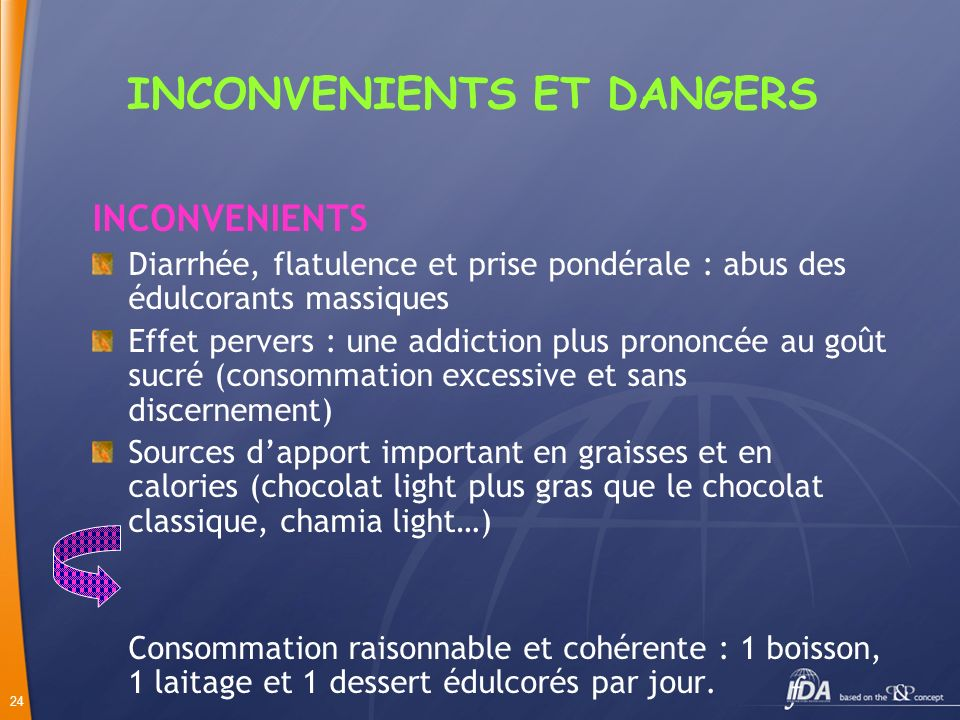 INCONVENIENTS ET DANGERS