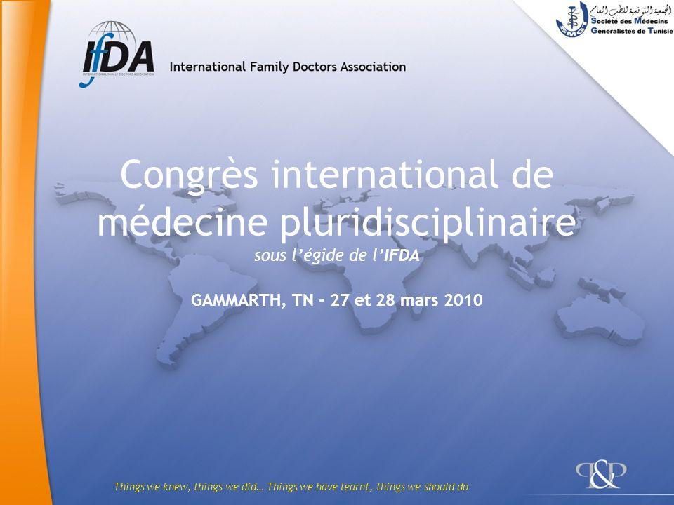 Congrès international de médecine pluridisciplinaire sous l'égide de l'IFDA