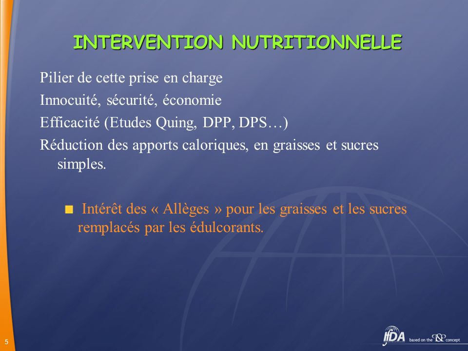 INTERVENTION NUTRITIONNELLE