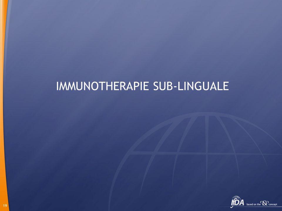 IMMUNOTHERAPIE SUB-LINGUALE
