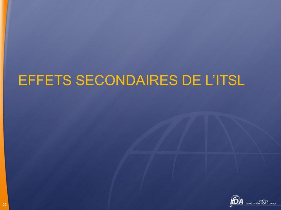 EFFETS SECONDAIRES DE L'ITSL