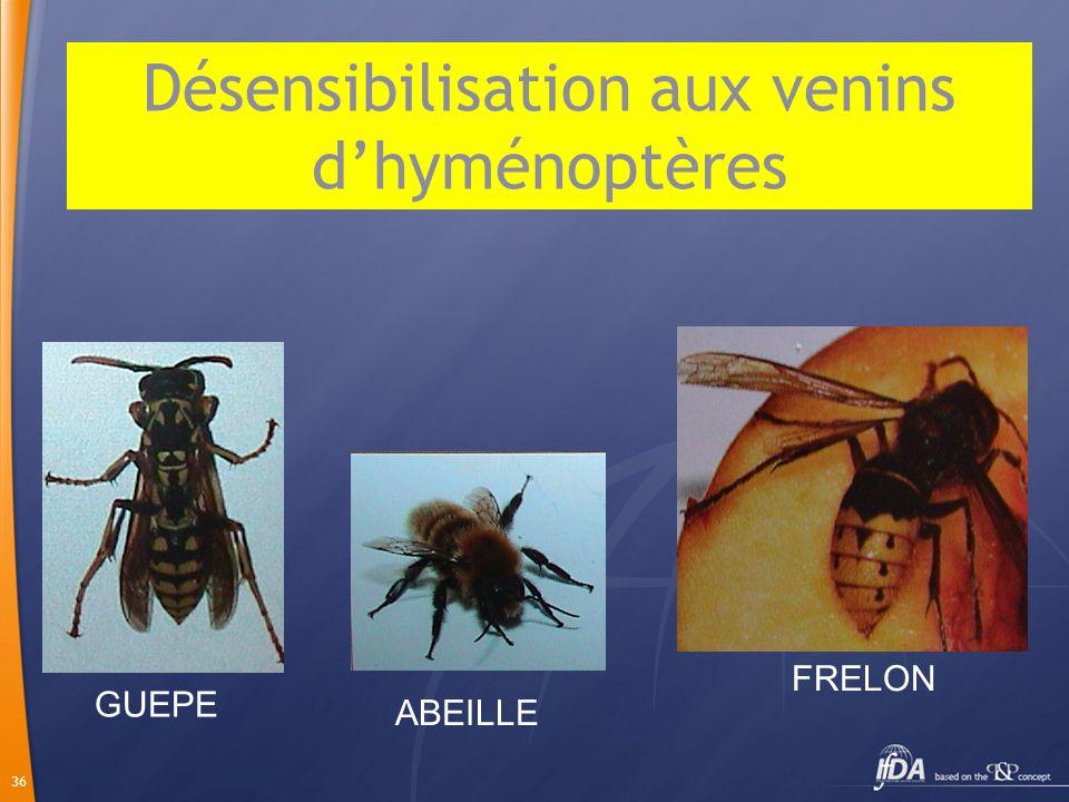 Désensibilisation aux venins d'hyménoptères
