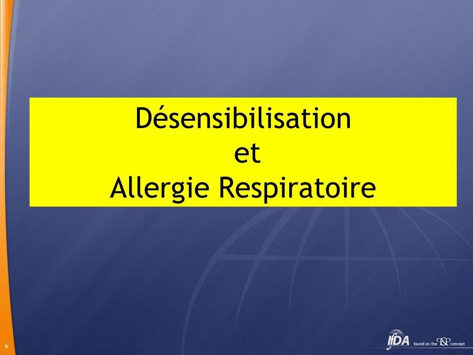 Désensibilisation et Allergie Respiratoire