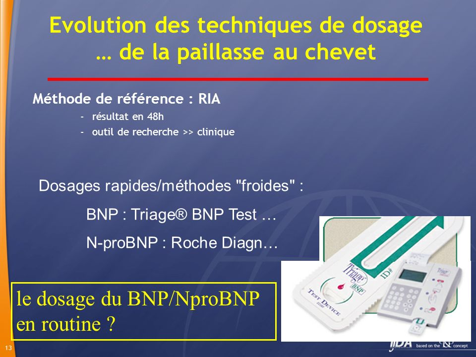 Evolution des techniques de dosage … de la paillasse au chevet