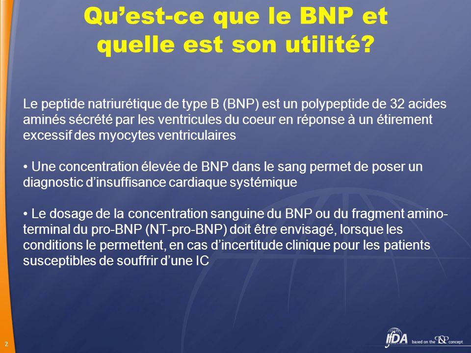 Qu'est-ce que le BNP et quelle est son utilité