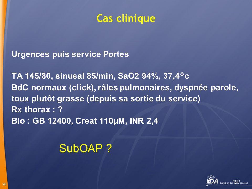 SubOAP Cas clinique Urgences puis service Portes
