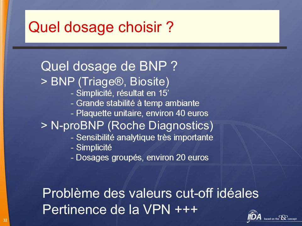 Quel dosage choisir Quel dosage de BNP