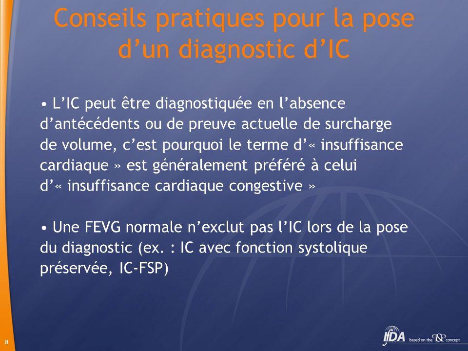 Conseils pratiques pour la pose d'un diagnostic d'IC